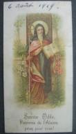 CARTE PIEUSE Canivet Année 1919 SAINTE ODILE / SANTINO S. ODILIA / HOLY CARD - Images Religieuses