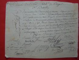 Empire: BONNAUD Général En 1794 + SOUDEUR Général En 1806 - Documentos Históricos