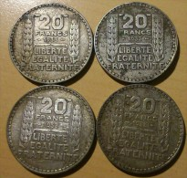 20 FRANCS TURIN 1933 (lot) - France