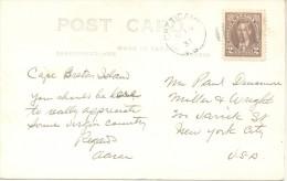 CAPE ROUGE - NOVA SCOTIA - CANADA CPA CIRCULEE  1937 CHIASSON PHOTO RARE - Cape Breton