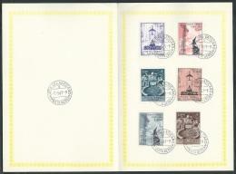 1967 VATICANO USATO POSTA AEREA SOGGETTI VARI ANNULLO FDC - ED230 - Airmail