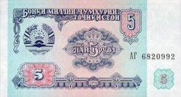 Tajikistan 5 Ruble  1994  Pick 2 UNC - Tajikistan