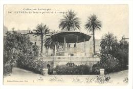 Cp, 83, Hyères, Le Jardin Public Et Le Kiosque, Voyagée 1907 - Hyeres