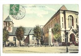 Cp, 92, Clichy, Ancienne Et Nouvelle Eglises, Voyagée 1913 - Clichy