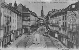 Plombières Les Bains Le Bain Romain Et La Rue Stanislas Bon Etat - Plombieres Les Bains