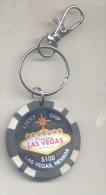 CASINO LAS VEGAS NEVADA LUCKY CHIP U$S 100.-  LLAVERO KEYRING - Casino