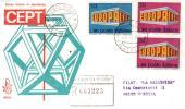 1969 ITALIA - FDC VENETIA  - EUROPA UNITA - CEPT - VIAGGIATA IN RACCOMANDATA - 6. 1946-.. Republic