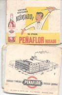 QUE ACERTADO! SI PIDE  PEÑAFLOR ROSADO ANOTADOR ARGENTINA CIRCA 1950 RARE ORIGINAL WINE VINO VINHO PUBLICITE - Werbung