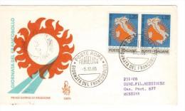 ITALIA 1965 - FDC GIORNATA DEL FRANCOBOLLO - 6. 1946-.. Republic