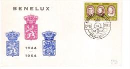 BELGIO BENELUX 1964 FDC 20 ° ANNIVERSARIO - FDC