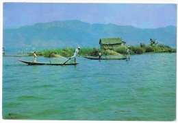 Burma - Birmanie - Shan State - Peche - Pecheurs - Myanmar ( 2 Scans ) - Myanmar (Burma)