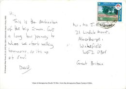 Annapurna Base Camp, Nepal Postcard Used Posted To UK 1998 Nice Stamp - Nepal