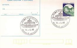 Cartolina Postale : CASTELLO S. GIORGIO L.550 (1988)  No Viaggiata; Annullo Fdc Roma Filatelico - Postwaardestukken