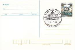 Cartolina Postale : CASTELLO DI CARINI L.700 (1992)  No Viaggiata; Annullo Fdc Roma Filatelico - 6. 1946-.. Repubblica
