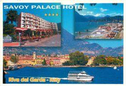 Hotel Savoy Palace, Riva Del Garda, Lago Di Garda, Italy Italia Postcard Used Posted To UK 2009 Stamp - Italy