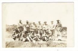 TRINIDAD  ( Antilles )  ?  /  GROUPE  DE  MILITAIRES  ( Infanterie Coloniale  ? ) / CARTE-PHOTO , Tirage Argentique - Trinidad