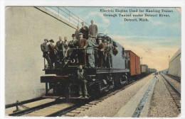 Electric Railroad Train Tunnel Entrance Detroit Michigan 1911 Postcard