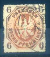 PRUSSIA - 1861 COAT OF ARMS, 6PF - Preussen