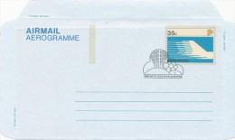 SINGAPORE - 5 Aerogramme - Different Backsides   -  Big Letter , Dispatch =  4,20 EURO - Singapour (1959-...)