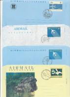 SINGAPORE - 8 Aerogramme - Different Backsides   -  Big Letter , Dispatch =  4,20 EURO - Singapour (1959-...)