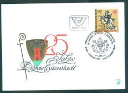 ÖSTERREICH - FDC Mi-Nr. 1830 - 25 Jahre Diözese Eisenstadt Stempel Eisenstadt (4) - FDC