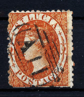 A2701) UK St. Lucia Old Stamp Orange Used Gestempelt - St.Lucia (...-1978)