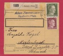 ALLEMAGNE //  COLIS POSTAL //  DE ROXHEIM //  12/6/1943 - Allemagne