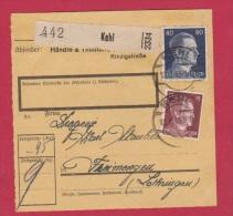 ALLEMAGNE //  COLIS POSTAL //  DE KEHL  //  13/6/1943 - Allemagne