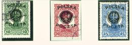 POLAND  -  1918  Optd Polska Poczta And Polish Eagle  Used As Scan - Oblitérés