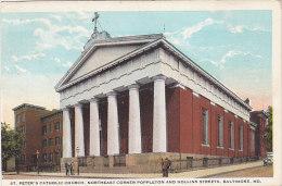 Baltimore, St Peter's Catholic Church, Northeast Corner Poppleton And Hollins Street (stamp, Timbre, Animation) - Baltimore