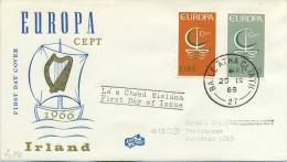 EIRE - FDC  FIDACOS 1966  - EUROPA UNITA - CEPT -  ANNULLO SPECIALE - FDC