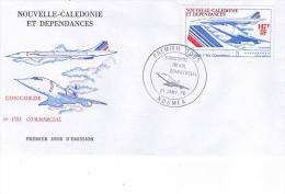 PA 169 -  147F  CONCORDE - Sur Env. 1er Jour Datée 21 Janvier 1976  NOUMEA - Non Classés