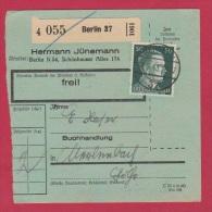 ALLEMAGNE  //  COLIS POSTAL  //  DE BERLIN 37   //  17/6/43 - Allemagne