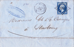 11760# LETTRE Obl PC WESSERLING T15 1862 HAUT RHIN ALSACE - Marcophilie (Lettres)