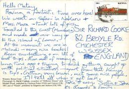 Watamu, Kenya Postcard Used Posted To UK 1997 Nice Stamp - Kenya