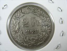 SWITZERLAND SWISS  2 FRANCS   SILVER 1928    LOT 19  NUM  3 - Suisse