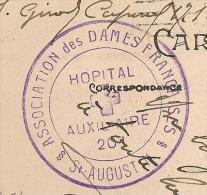 NON SIGNALE ALTAROVICI, HOPITAL AUXILIAIRE 201, ST AUGUSTIN, BORDEAUX Gironde Sur CPA En Franchise. - WW I
