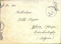 Feldpostbrief 8.8.41 Van Nr 09372E Naar Photohaus Edingen/Engien Met Censuur Cöln. - Lettres