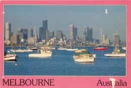 Skyline, Melbourne, Victoria, Australia Postcard Used Posted To UK  #1 - Melbourne