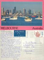 Skyline, Melbourne, Victoria, Australia Postcard Used Posted To UK 1195 Nice Stamp #2 - Melbourne