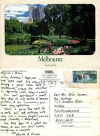 Queen Victoria Gardens, Melbourne, Victoria, Australia Postcard Used Posted To UK 2002 Stamp - Melbourne