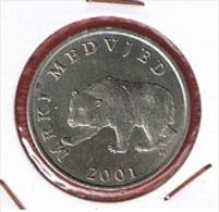 CROATIE   //  5 KUNA     //  KM # 11  //  2001   //  ETAT  TTB+ - Croatia
