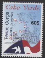 Cabo Verde 2008 - Corpo Da Paz Peace Corps Dove Colombe Friedenstaube Corps De La Paix 1 Val MNH - Cap Vert