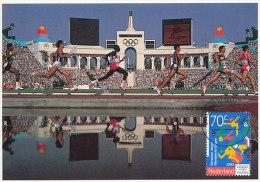 D16645 CARTE MAXIMUM CARD FD 1993 NETHERLANDS - ATHLETICS RUNNING YOUTH OLYMPICS CP ORIGINAL - Athletics