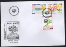 Cabo Verde 2006 - FIFA World Cup Germany Coupe Du Monde Football Soccer WM Deutschland Fußball 3 Val. FDC - Cap Vert