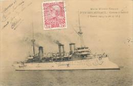 """BATEAUX Bateau Marine Militaire Française Le """"d'entrecastreaux """" Pleine Mer 1918   2 Scans - Guerra"""