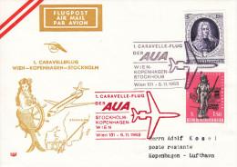"1963, 1. AUA-Caravelleflug ""Wien - Kopenhagen - Stockholm"" - Feuerwehr"