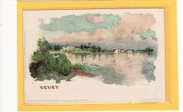 SUISSE / VAUD / VEVEY / Le Lac / Illustrée Par F.Voellmy / Précurseur - VD Vaud