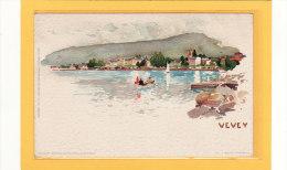 SUISSE / VAUD / VEVEY / Barque /  Illustrée Par F.Voellmy / Précurseur - VD Vaud