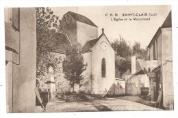CPA - SAINT-CLAIR - L'EGLISE ET LE MONUMENT -EDIT. JOUCLAS - ST ALIR  -  P.B.G. - Andere Gemeenten